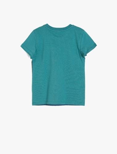Koton Kids Yazılı Baskılı T-Shirt Mavi